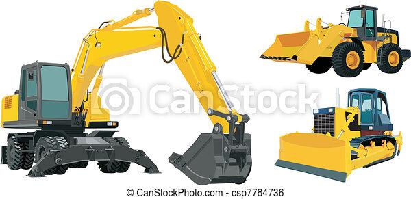 maquinaria construção - csp7784736