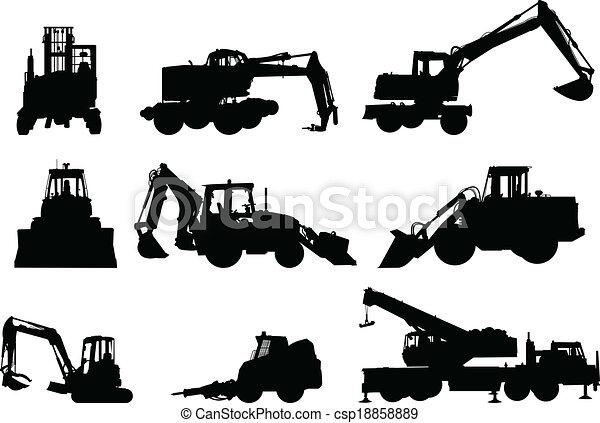maquinaria construção - csp18858889