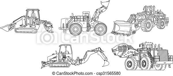 maquinaria construção - csp31565580