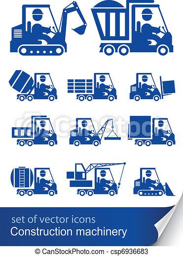 maquinaria construção - csp6936683