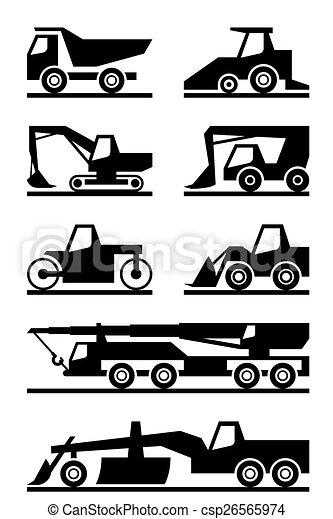 Máquina de construcción de carreteras - csp26565974