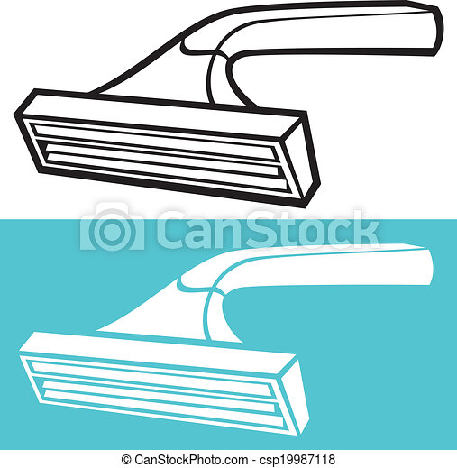 Una afeitadora desechable - csp19987118