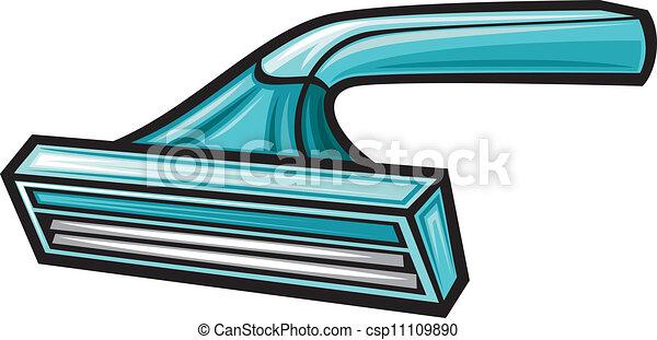 Una navaja de afeitar desechable - csp11109890