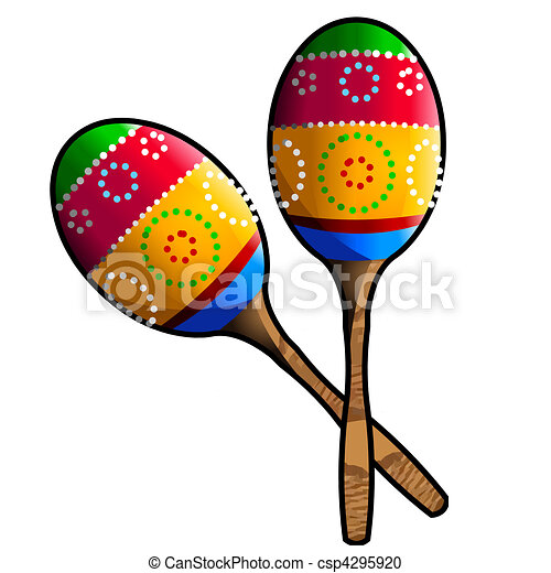 two colorful maracas stock illustration search clipart drawings rh canstockphoto com maracas clip art free maracas instrument clipart