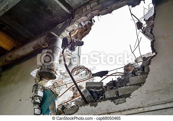 maradék, pipes., fal, híradástechnika, belső, kilyukaszt - csp68050465