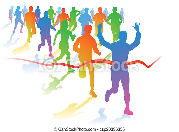 marathon runners clipart vector search illustration drawings and rh canstockphoto com running clip art images runner clipart