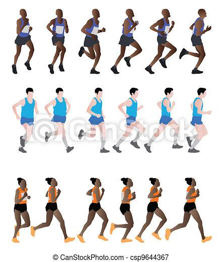 marathon runners - csp9644367