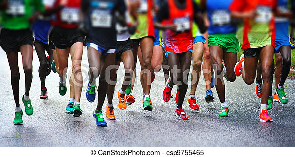 Marathon runners - csp9755465
