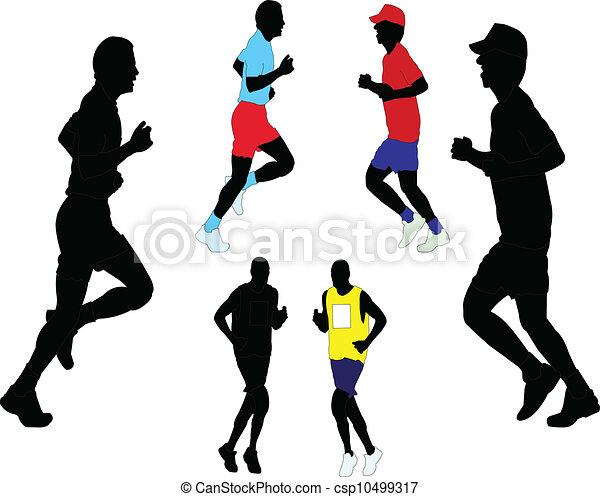 marathon - vector - csp10499317