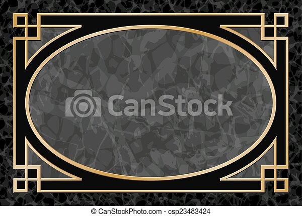 gold frame border vector.  Gold Marble Background With Frame Border  Csp23483424 For Gold Frame Vector M