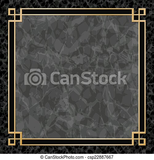 gold frame border rectangle marble backgrounds with gold frame csp22887667 black marble backgrounds gold frame border eps 10