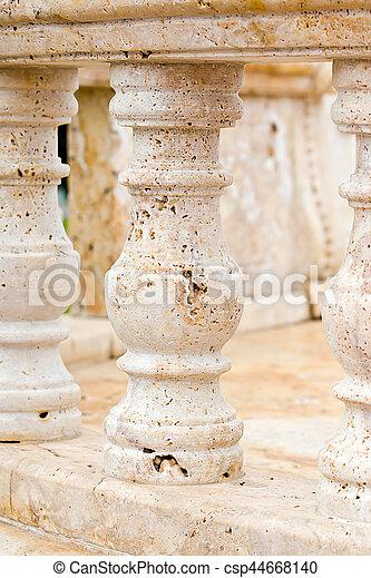 marble balustrade - csp44668140