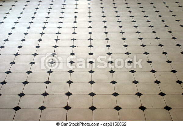 Marble Floor Stone Pattern In Perspective Stock