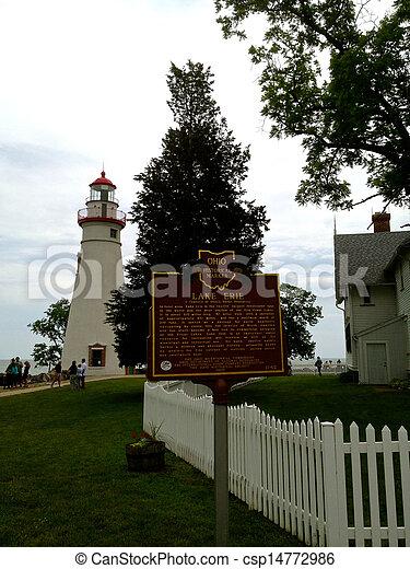 Marblehead Lake Erie Sign - csp14772986
