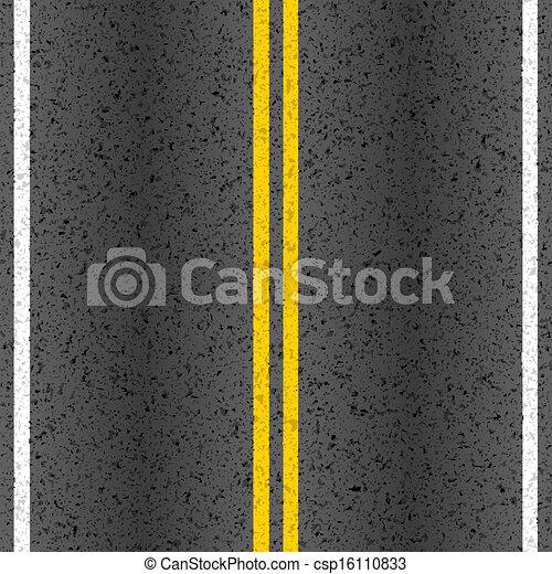 marcação, linhas, estrada asfalto - csp16110833