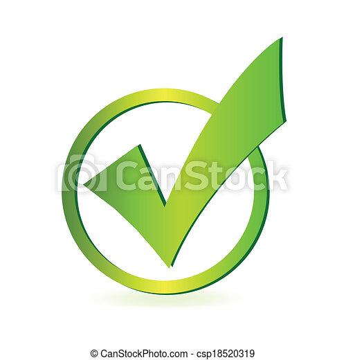 Marca de control - csp18520319