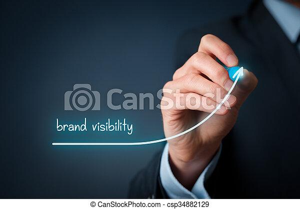 marca, visibilidade - csp34882129