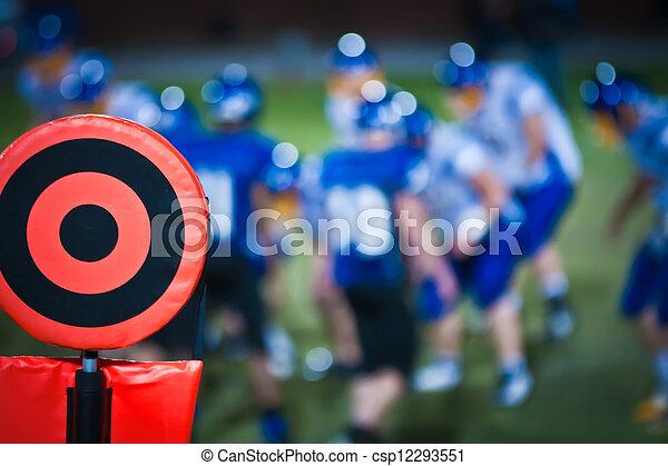 marcador, futebol, sideline - csp12293551