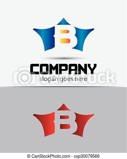 marcar, b, identidade, letra, sinal - csp30079566