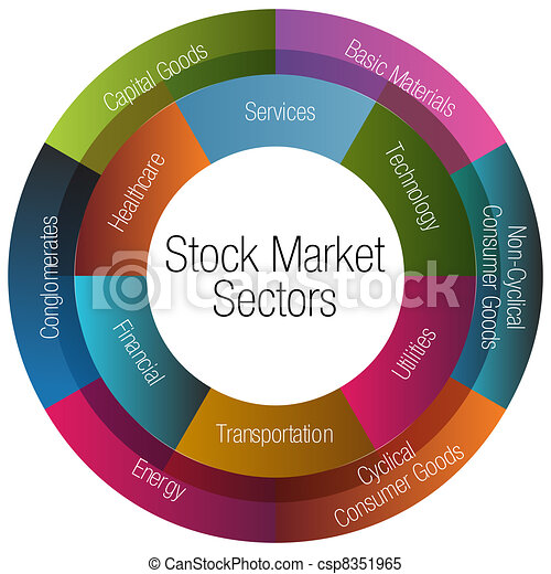 marché, diagramme, secteurs, stockage - csp8351965
