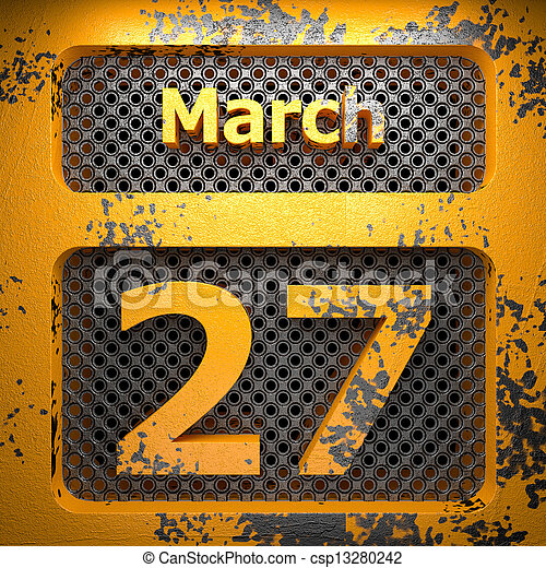 march 27 of painted steel - csp13280242
