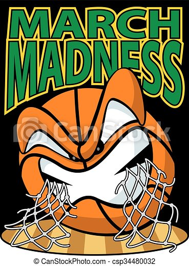 vector illustration of a march madness logo rh canstockphoto com march madness clipart free march madness clip art free