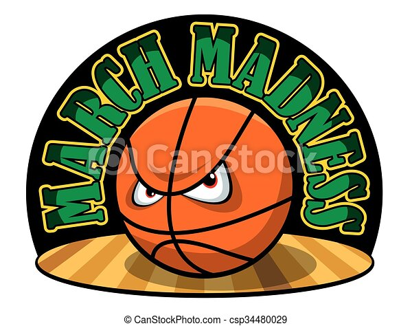 vector illustration of a march madness logo vector illustration rh canstockphoto com march madness clip art free march madness clip art free
