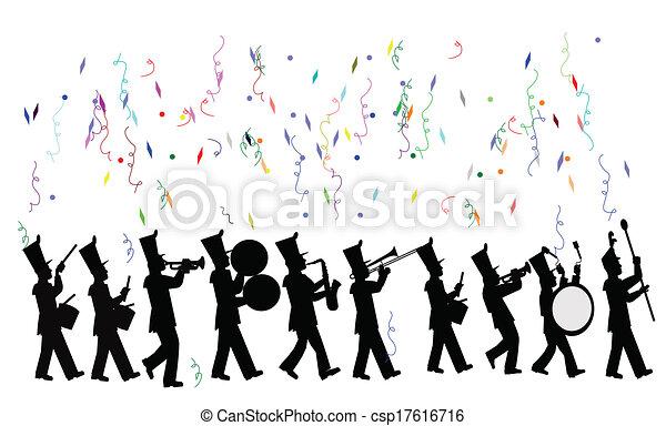 marche bande, célébration - csp17616716
