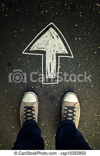 marche, direction - csp10355850