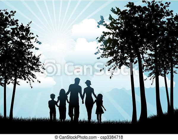 marche, famille - csp3384718