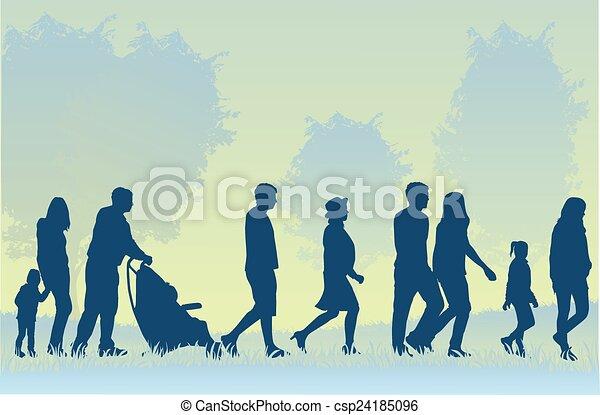marche, foule, gens - csp24185096