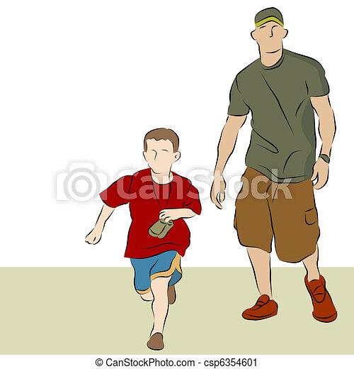 marche, père, fils - csp6354601