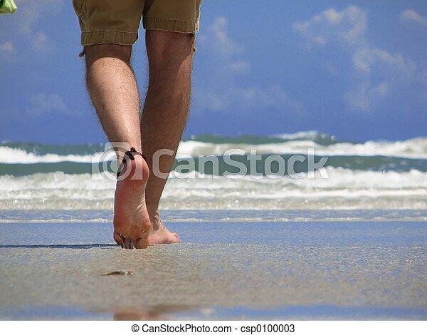 marche, plage - csp0100003