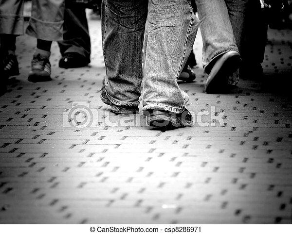 marche, rue, par - csp8286971