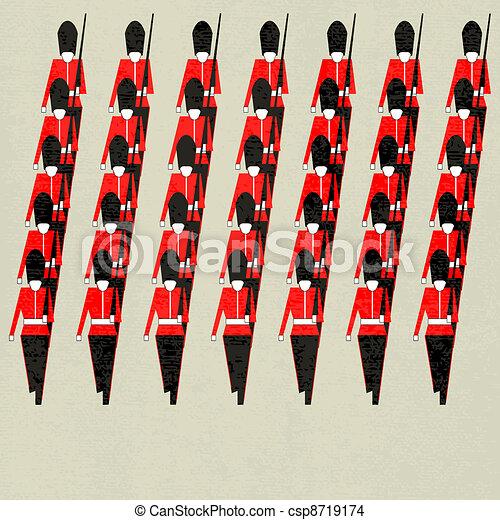 marcher, gardes - csp8719174