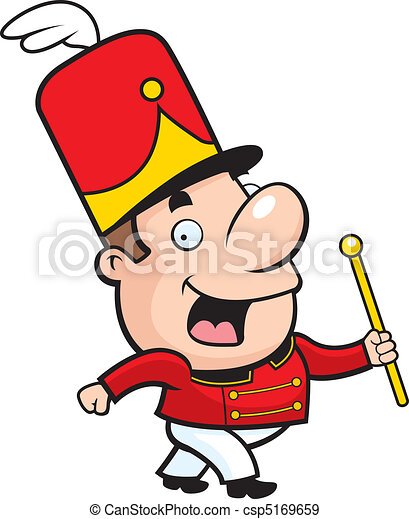 a happy cartoon marching band conductor waving and smiling eps rh canstockphoto com marching clipart black and white clipart marching band