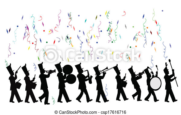 marching band in celebration  - csp17616716