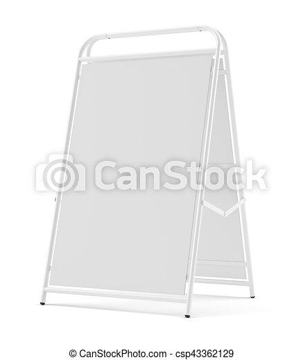 marciapiede, cartello, isolato, vuoto - csp43362129