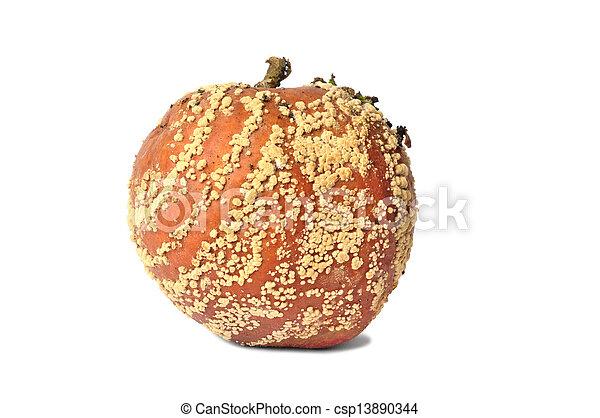 marcio, sfondo bianco, mela - csp13890344
