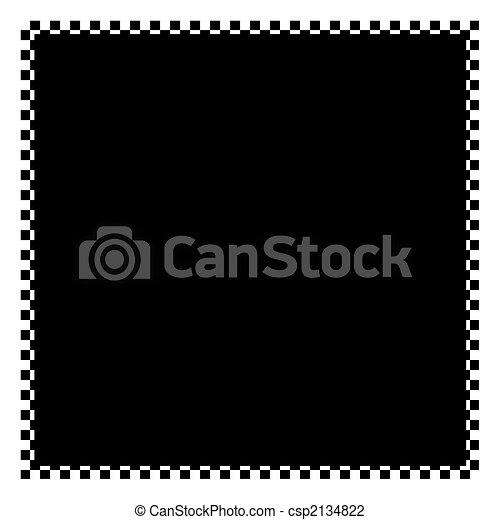 Un marco a cuadros - csp2134822