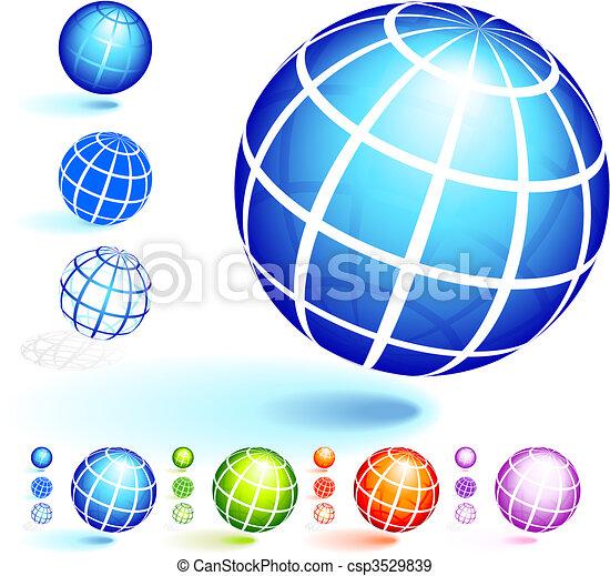 Marco, alambre, globo, colección. Alambre, globo, marco,... vectores ...