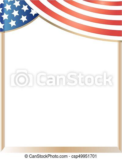 Marco, bandera, estados unidos de américa, onda. Estados unidos de ...