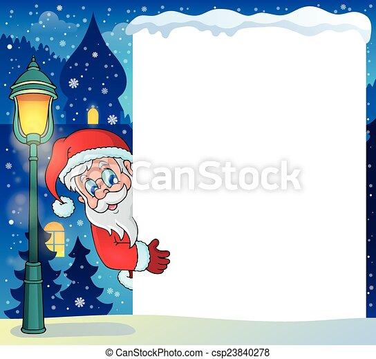Frame con Santa Claus tema 5 - csp23840278