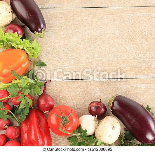 Un cuadro vegetal colorido - csp12000695