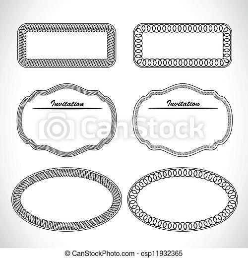 Encuadre de adorno - csp11932365
