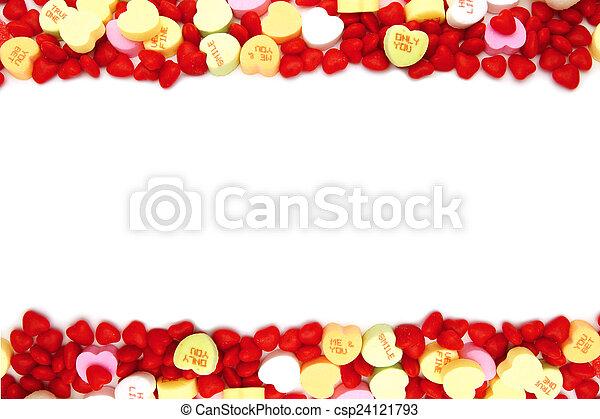 marco, día de valentines, dulce - csp24121793