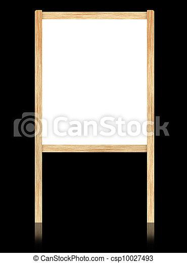 Marco de madera, aislar, fondo., negro, tabla, blanco, vacío.