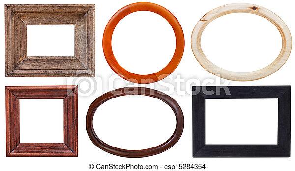 Un marco de madera - csp15284354