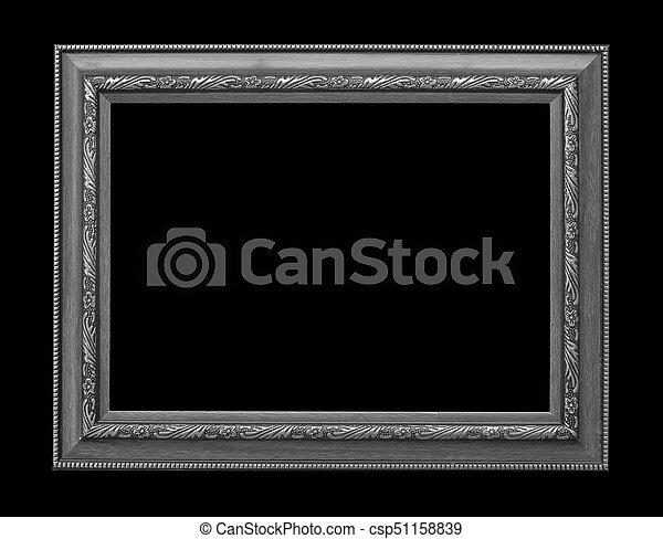 Marco de madera, fondo negro.