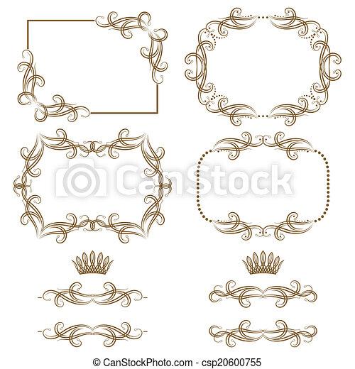 Un marco decorativo - csp20600755